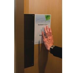 NanoSeptic - FOLIE autocurățare pentru UȘĂ BATANTĂ, cu protecție  împotriva germenilor și virusurilor, 15.24 cm x 22.86 cm (push)